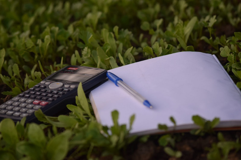 calculator and blank paper